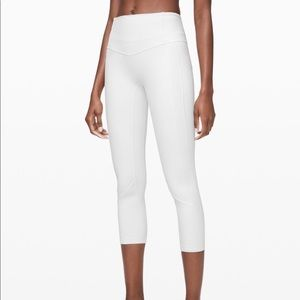 Lululemon All the Right Places White Leggings SZ 8